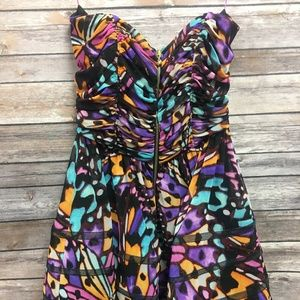 Betsey Johnson Multi-Color Butterfly Dress